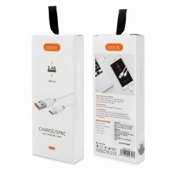 kabel usb vidvie cb442 micro bialy 1m