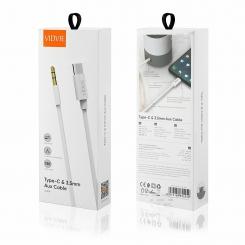 kabel vidvie al1109 auxtypec 1 5m bialy